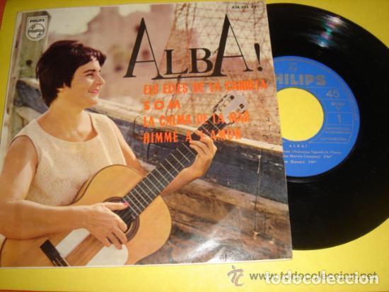 ALBA! ELS EIXOS DE LA CARRETA/SOM/LA CALMA DE LA MAR/HIMNE A L'AMOR (YUPANQUI/RAIMON/PIAFF) (Música - Discos de Vinilo - Maxi Singles - Solistas Españoles de los 50 y 60)