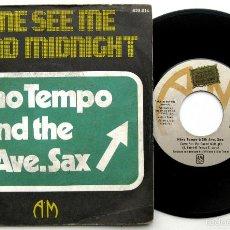 Discos de vinilo: NINO TEMPO AND THE 5TH AVE. SAX - COME SEE ME 'ROUND MIDNIGHT - SINGLE A&M RECORDS 1974 BPY. Lote 61508383