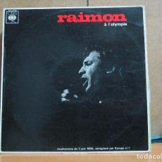 Disques de vinyle: RAIMON - A L'OLYMPIA. MUSICORAMA DU 7 JUIN 1966 - CBS MONO 62763 - 1966 - EDICION FRANCESA. Lote 44643891