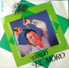 Discos de vinilo: EMILIO EL MORO. VAYA UN AÑO.VENDO UNOS OJOS NEGROS. LLORONA.LA CAMA DE PIEDRA. DISCOPHON. Lote 61533446