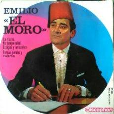 Discos de vinilo: EMILIO EL MORO.LA MAMA. NO TENGO EDAD. ESPIGAS Y AMAPOLAS. PERRAS GORDAS Y MODERNAS. DISCOPHON. Lote 61533676