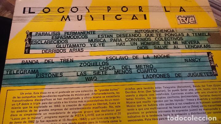 Discos de vinilo: Locos por la musica lp disco de vinilo Parálisis permanente Espasmódicos Zoquillos Punk Pop - Foto 2 - 61534268