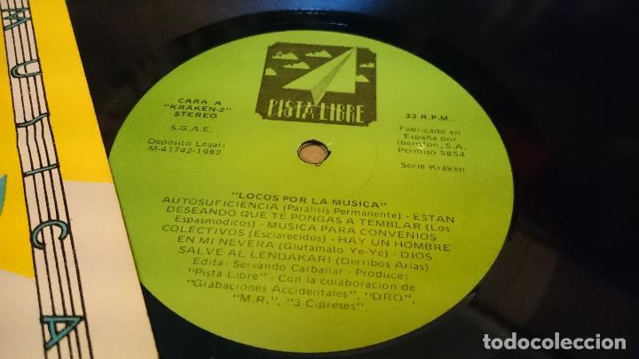 Discos de vinilo: Locos por la musica lp disco de vinilo Parálisis permanente Espasmódicos Zoquillos Punk Pop - Foto 5 - 61534268