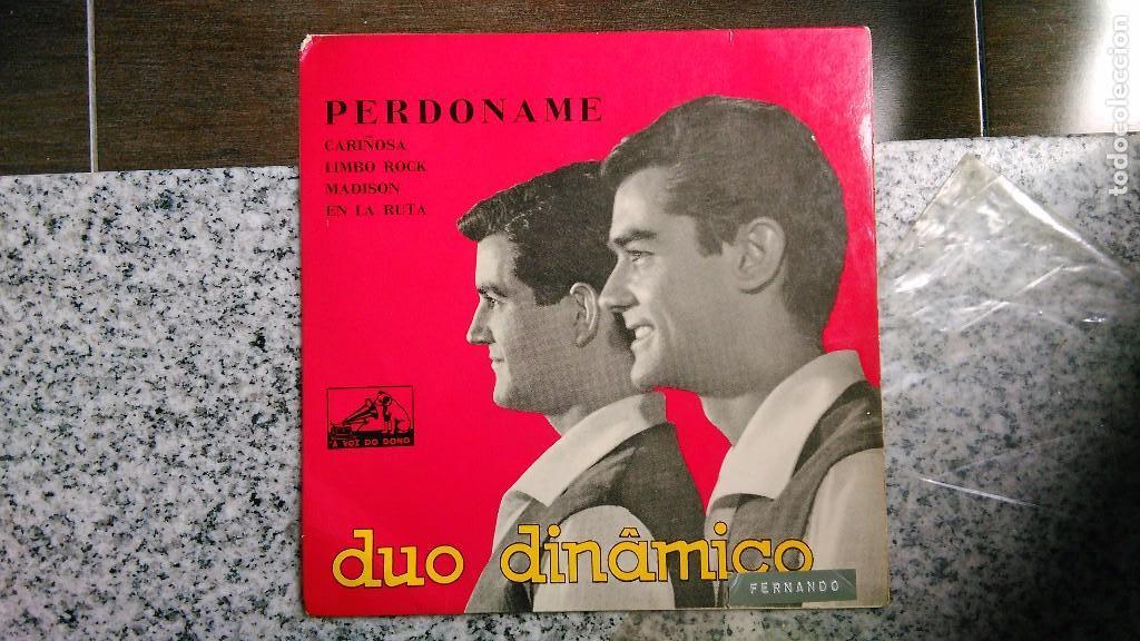 DÚO DINÁMICO CARPETA DEL EP PERDÓNAME + 3.PORTUGAL (Música - Discos de Vinilo - EPs - Grupos Españoles 50 y 60)