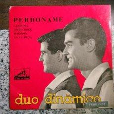 Discos de vinilo: DÚO DINÁMICO CARPETA DEL EP PERDÓNAME + 3.PORTUGAL. Lote 61546284