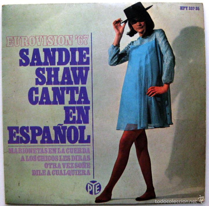 SANDIE SHAW - CANTA EN ESPAÑOL - EUROVISION '67 - EP HISPAVOX 1967 BPY (Música - Discos de Vinilo - EPs - Festival de Eurovisión)