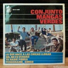 Discos de vinilo: CONJUNTO MANGAS VERDES LO QUE HACE A LAS CHICAS LLORAR 1964 SINGLE VINILO. Lote 61581556
