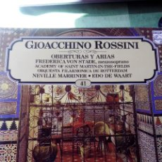 Discos de vinilo: ROSSINI - LOS GRANDES COMPOSITORES PHILIPS RECORDS 1982 .VINILO LP -41. Lote 61599408