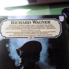 Discos de vinilo: WAGNER LOS GRANDES COMPOSITORES PHILIPS RECORDS 1982 .VINILO LP -42. Lote 61599504
