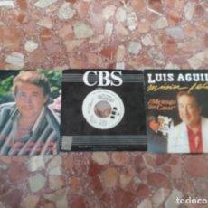 Discos de vinilo: LUIS AGUILE LOTE 3 SINGLES. Lote 61634972