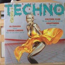 Disques de vinyle: SINGLE PROMO TODO TECHNO, ULTRAVOX / LOUIS CHEDID / CULTURE CLUB / KRAFTWERK (AÑO 1993), UNA CARA. Lote 61649712