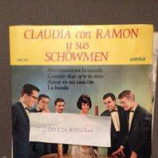 Discos de vinilo: CLAUDIA CON RAMON Y SUS SHOWMEN MARIONETAS EN LA CUERDA + 3 PALOBAL 67 EUROVISION. Lote 61253735