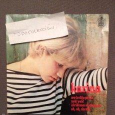 Discos de vinilo: KARINA - ME LO DIJO PÉREZ / YEH! YEH! / OLVIDEMOS EL MAÑANA / OH, OH, SHERIFF - HISPAVOX 1965. Lote 61253899