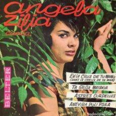 Discos de vinilo: ANGELA ZILIA - CANCIÓN MEDITERRANEA, EP, TA GRISA MATAKIA + 3, AÑO 1961. Lote 61678116