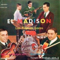 Discos de vinilo: LOS PAJAROS LOCOS, EP, TIEMPO DE MADISON Nº 1 + 3, AÑO 1962. Lote 61679800