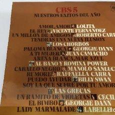 Discos de vinilo: MAGNIFICO LP DE - C B S 5 - NUESTROS EXITOS DEL AÑO 1975 -. Lote 61689404