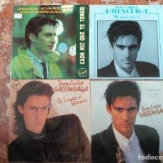 Discos de vinilo: JUAN CARLOS VALENCIAGA LOTE 4 SINGLES. Lote 61692616