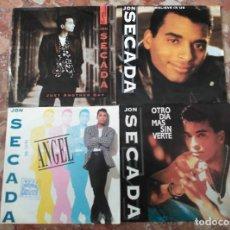 Discos de vinilo: JON SECADA LOTE 4 SINGLES. Lote 61693336