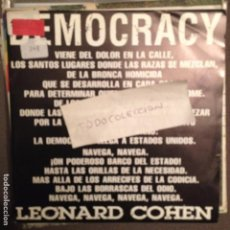 Discos de vinilo: LEONARD COHEN- DEMOCRACY SG PROMO 1992. Lote 61693280