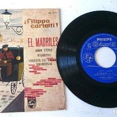Discos de vinilo: FILIPPO CARLETTI Y SU CUARTETO: EL MADRILES + 3 (PHILIPS 1960). Lote 61707039