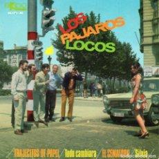 Discos de vinilo: PAJAROS LOCOS, EP, TRAJECITOS DE PAPEL + 3, AÑO 1967. Lote 61711508