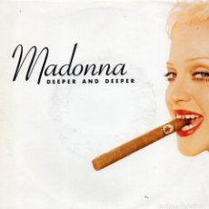 Discos de vinilo: MADONNA, SG, DEEPER AND DEEPER + 1, AÑO 1992 MADE IN GERMANY. Lote 140065464