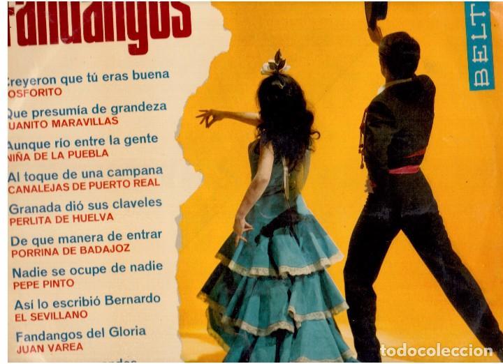 FANDANGOS (Música - Discos de Vinilo - EPs - Flamenco, Canción española y Cuplé)