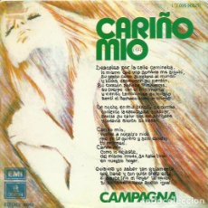 Discos de vinilo: CAMPAGNA. SINGLEPROMOCIONAL . SELLO EMI-ODEON. EDITADO EN ESPAÑA. AÑO 1975. Lote 61735564