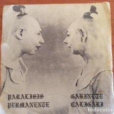 Discos de vinilo: PARÁLISIS PERMANENTE Y GABINETE CALIGARI. EDITADO POR SERVANDO CABALLAR DRO 003 1982. Lote 61747772