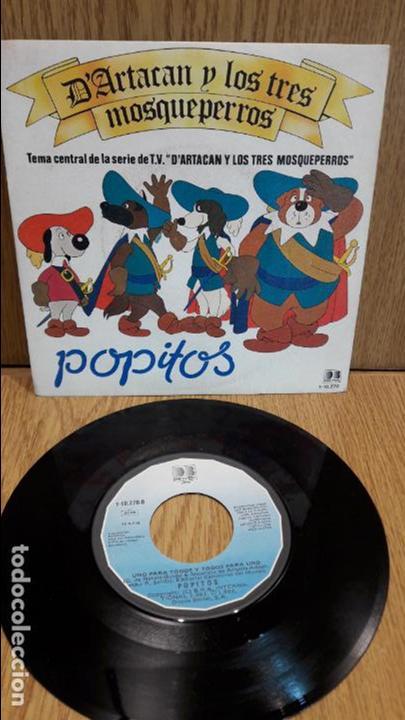 POPITOS. D'ARTACAN Y LOS TRES MOSQUEPERROS. SINGLE / BELTER - 1982 / CALIDAD LUJO. ****/**** (Música - Discos - Singles Vinilo - Música Infantil)