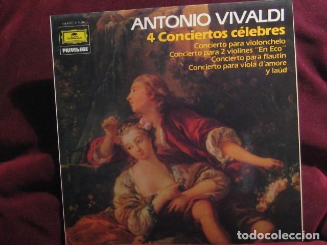VIVALDI. 4 CONCIERTOS CÉLEBRES (Música - Discos - LP Vinilo - Clásica, Ópera, Zarzuela y Marchas)