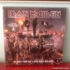Discos de vinilo: IRON MAIDEN A MATTER OF LIFE AND DEATH LIMITED EDITION DOUBLE PICTURE DISC. Lote 61822292