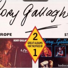 Discos de vinilo: RORY GALLAGHER LIVE! IN EUROPE STAGE STRUCK 2 LP ALEMANIA 1989 GATEFOLD. Lote 61833292
