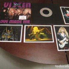 Discos de vinilo: VIXEN - LOVE MADE ME - EDICION CON 4 POSTALES Y CARPETA EXTERIOR PLEGABLE - . Lote 61837976