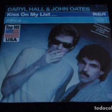 Discos de vinilo: DARYL HALL & JOHN OATES ''TOP HIT USA'' ( KISS ON MY LIST - AFRICA ) 1980-GERMANY SINGLE45 RCA. Lote 61841920