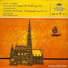 Discos de vinilo: SCHUBERT - HAYDN - LA TRUCHA - EL EMPERADOR - 1959. Lote 61851052