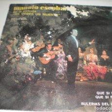 Discos de vinilo: MANOLO ESCOBAR, DE LA PELICULA: ME DEBES UN MUERTO. Lote 61872220