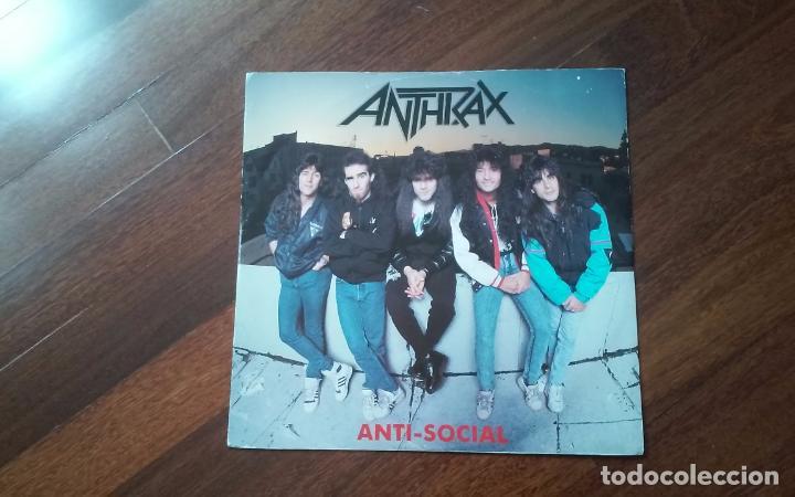 ANTHRAX-ANTI SOCIAL.MAXI AZUL UK (Música - Discos de Vinilo - Maxi Singles - Heavy - Metal)