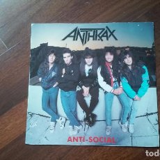 Discos de vinilo: ANTHRAX-ANTI SOCIAL.MAXI AZUL UK. Lote 61885060