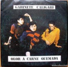 Discos de vinilo: GABINETE CALIGARI - OLOR A CARNE QUEMADA - TRES CIPRESES. Lote 61903240