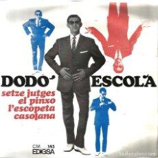 Discos de vinilo: EP DODO ESCOLA : SETZE JUTGES . Lote 61932844