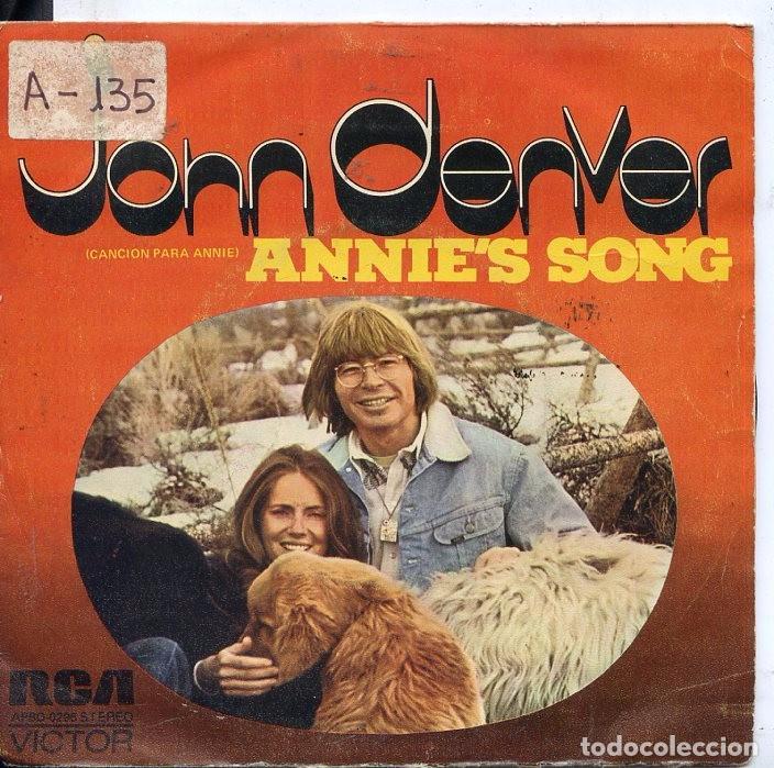 JOHN DENVER / CANCION PARA ANNIE / COOL AN' GREEN AN' SHADY (SINGLE PROMO 1974) (Música - Discos - Singles Vinilo - Country y Folk)