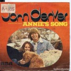 Dischi in vinile: JOHN DENVER / CANCION PARA ANNIE / COOL AN' GREEN AN' SHADY (SINGLE PROMO 1974). Lote 61933040