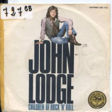 Discos de vinilo: JOHN LODGE / CHILDREN OF ROCK 'N' ROLL / PIECE OF MY HEART (SINGLE PROMO 1977). Lote 61933244