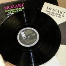 Discos de vinilo: CURIOSO LOTE DE VINILOS MUSICA CLÁSICA. BEETHOVEN - SCHUMANN - MOZART CON PARTITURAS CONCIERTO PIANO. Lote 61934524