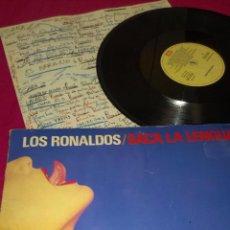 Discos de vinilo: LP . LOS RONALDOS . SACA LA LENGUA . 1988. Lote 61960424