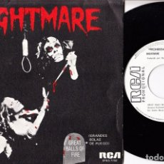 Disques de vinyle: NIGHTMARE RONNIE SPOOK DICKSON GREAT BALLS OF FIRE SPANISH PROMO SINGLE 45 PUNK. Lote 61983584