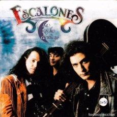 Discos de vinilo: ESCALONES - LA NOCHE CONTIGO + CAMBIO DE BAR SINGLE PROMO 1992 EX-EX-. Lote 61983948