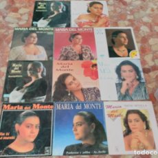 Discos de vinilo: MARIA DEL MONTE LOTE 11 SINGLES. Lote 62019708