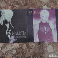 Discos de vinilo: MALICIA LOTE 2 SINGLES. Lote 62021240